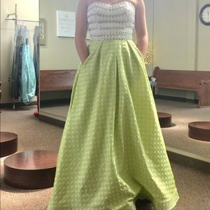 Two Piece Rachel Allan Prom Dress!